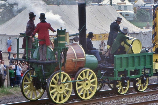 The Sans Pareil replica in 1980. Photo by Barry Lewis.