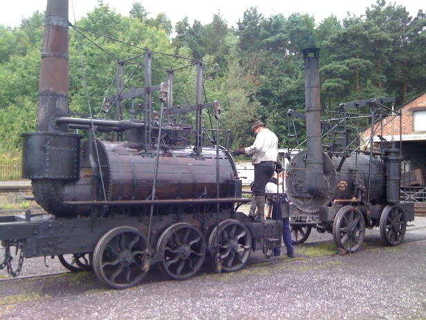 Steam Elephant and Puffing Billy replicas at Beamish. Photo by Darrin Antrobus.