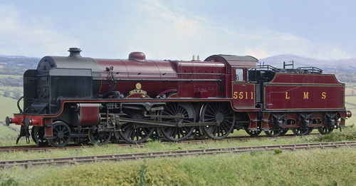 A vision of the future - Lee Marsh Models' rendition of 5511 Isle of Man in the Crimson Lake livery selected as The Unknown Warrior's first.